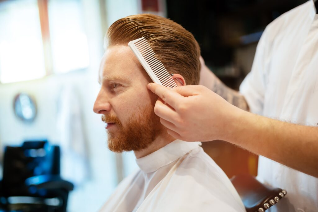 Combing of hair and styling