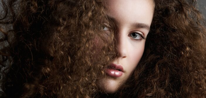 Curly hair beauty fashion model
